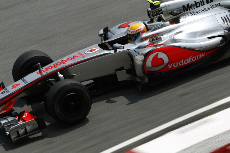 Hamilton marcou sua melhor volta no finalzinho
