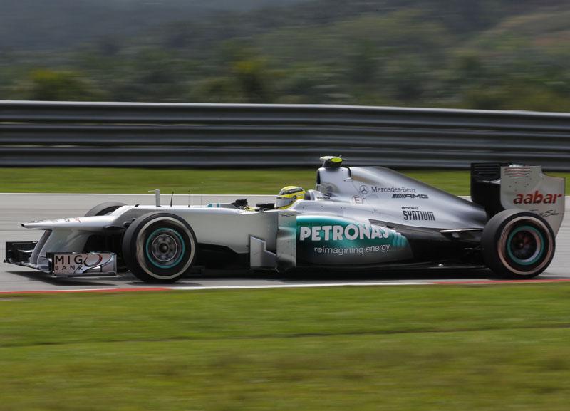 Rosberg foi o quinto colocado nos treinos livres