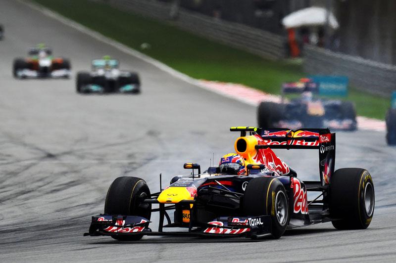 Webber teve a corrida comprometida na Malásia pela falha no Kers