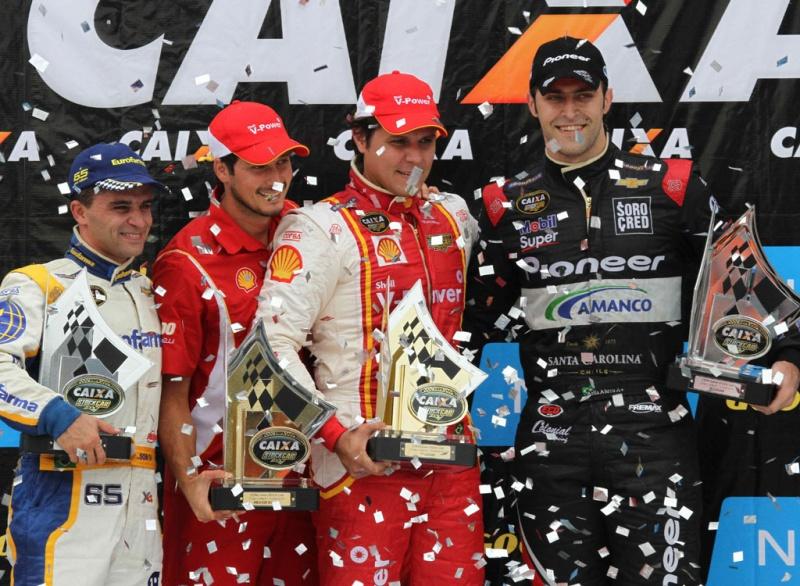 Pódio da etapa de Curitiba da Stock Car
