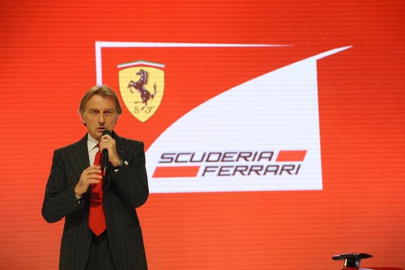 Luca di Montezemolo, durante evento da Ferrari na Itália