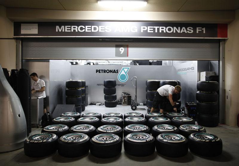 A Pirelli levou ao Bahrein os pneus macios e médios