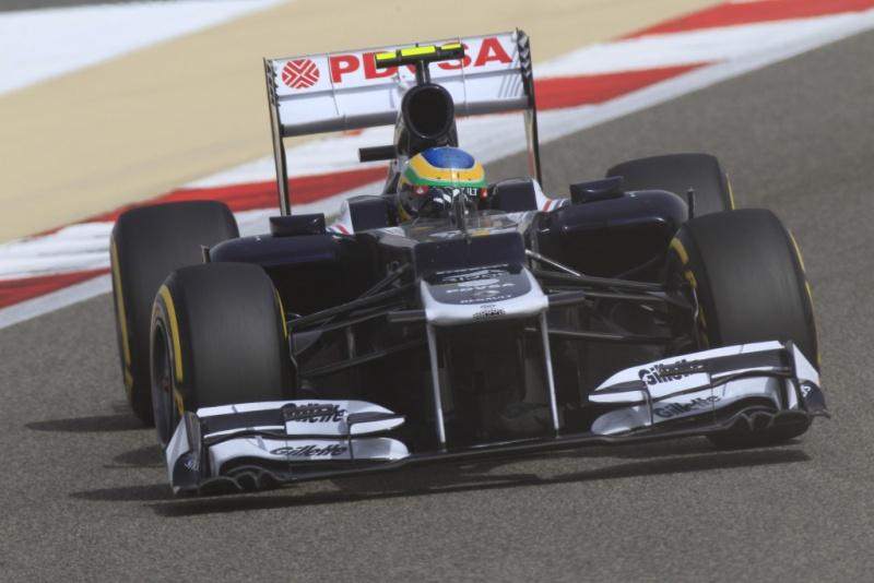 Bruno Senna não teve uma tarde das melhores no Bahrein