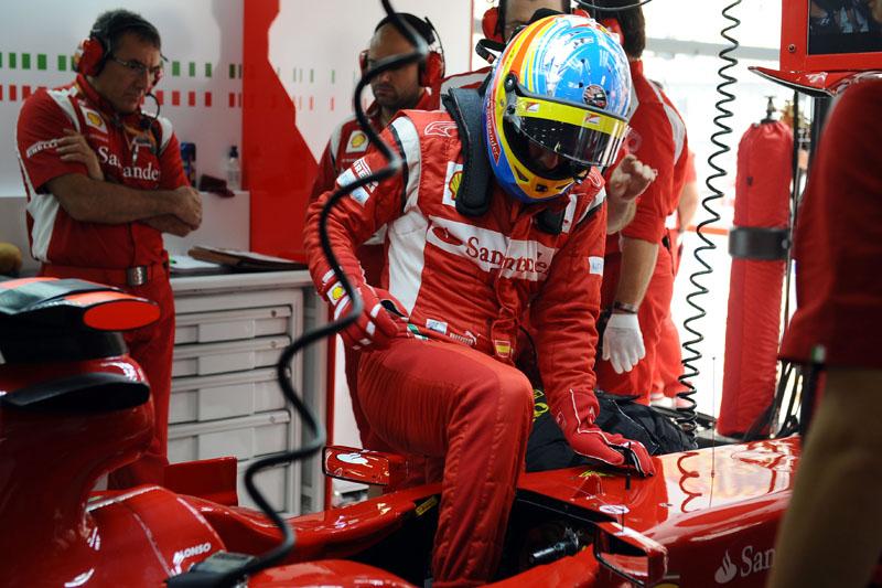 Alonso andou pouco nos treinos de hoje