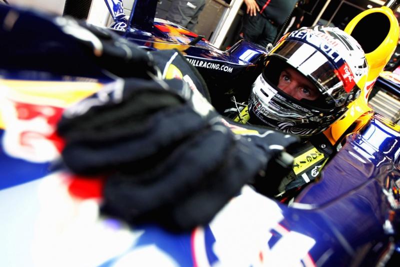 Vettel a postos para encarar a pista nesta quarta