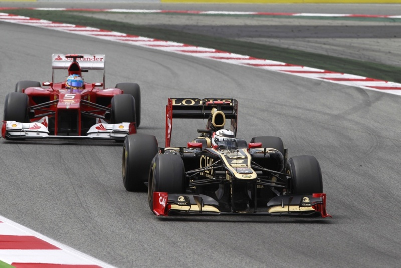 Kimi Raikkonen foi ao pódio na Espanha