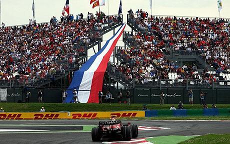 O último GP disputado na França foi em 2008