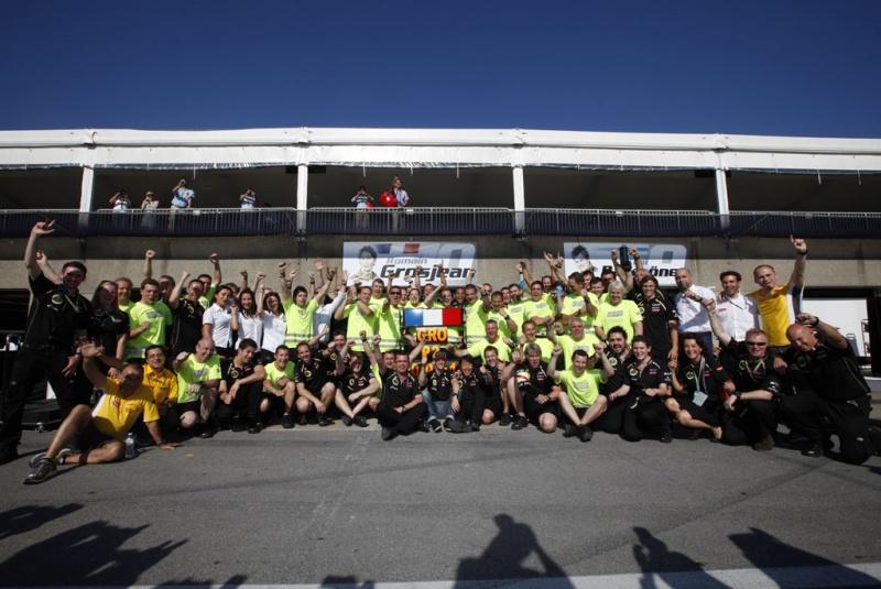 Comemoração da equipe pós corrida do Canadá