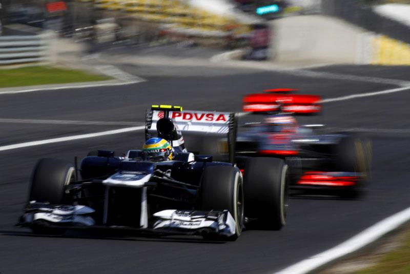 Senna e Button na Hungria (LAT/Williams)