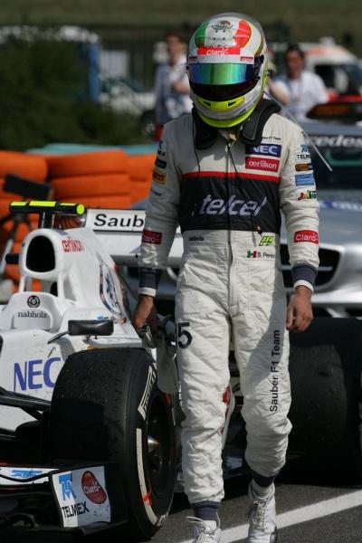 Pérez teve uma corrida difícil na Hungria