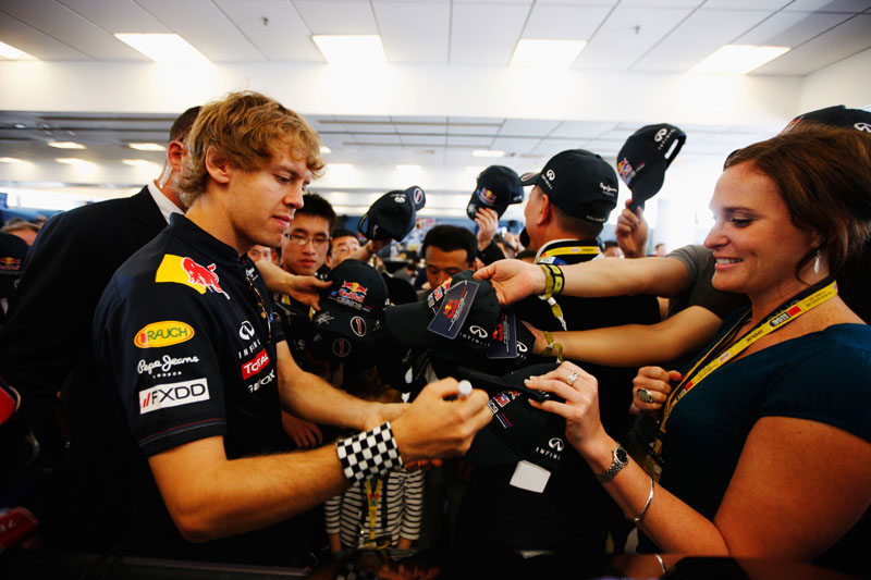 Vettel: o centro das atenções do mundo da Fórmula 1