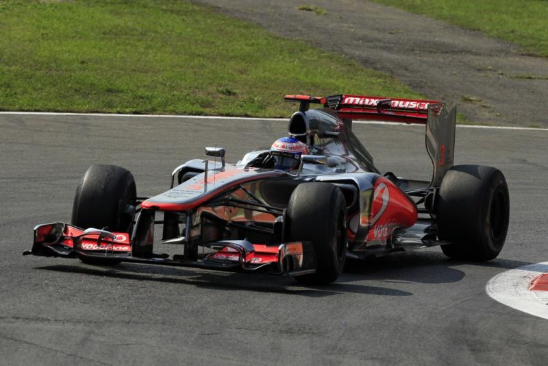 Button em ação em Monza