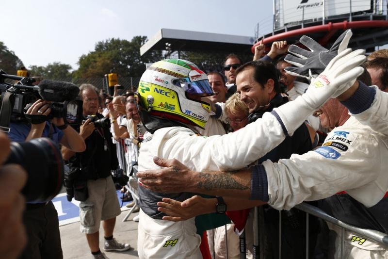 Sauber comemora com Pérez pódio em Monza