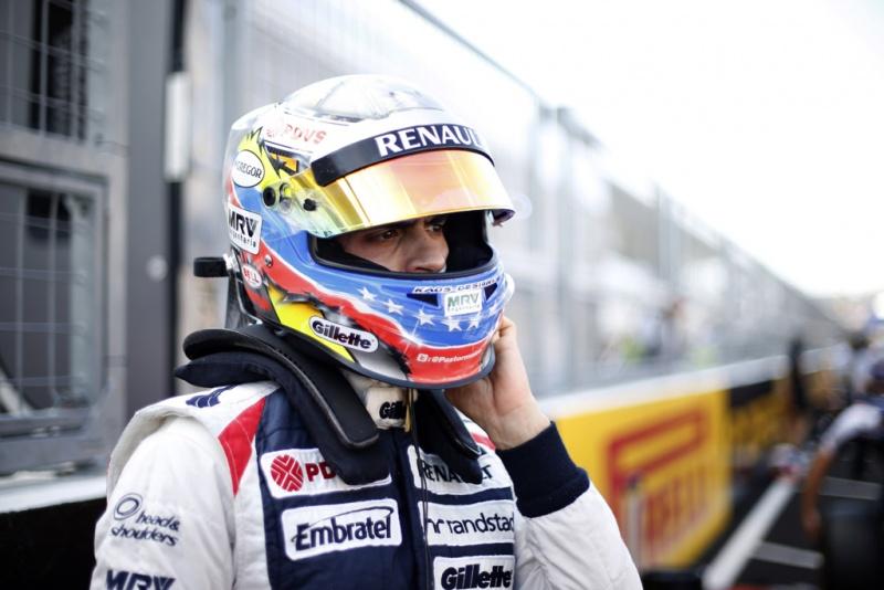 Maldonado durante o GP do Japão