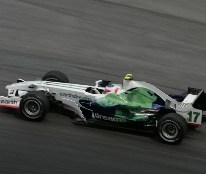 Barrichello em 2008, o último ano da Honda na F1