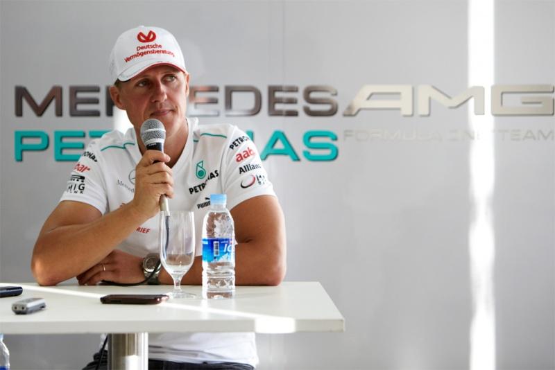 Schumacher dá entrevista na Coreia