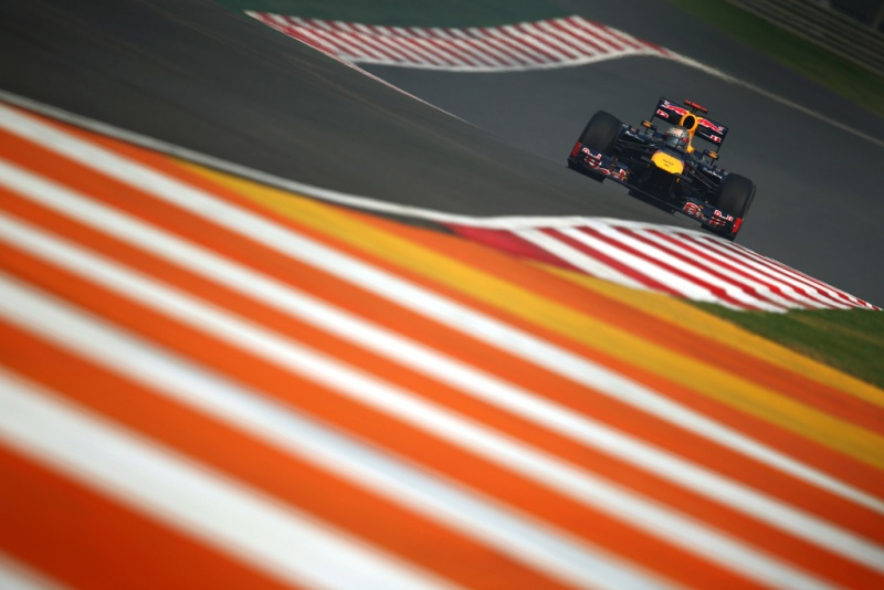 Vettel durante treino na Índia