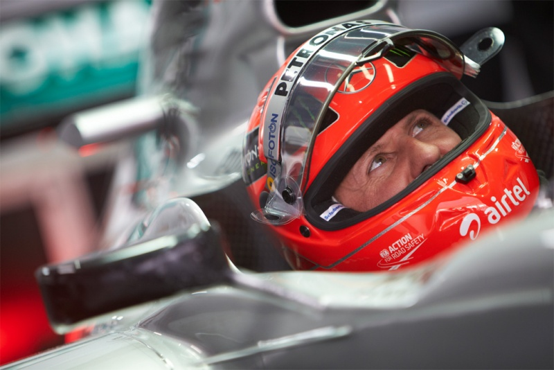 Schumacher durante GP da Índia