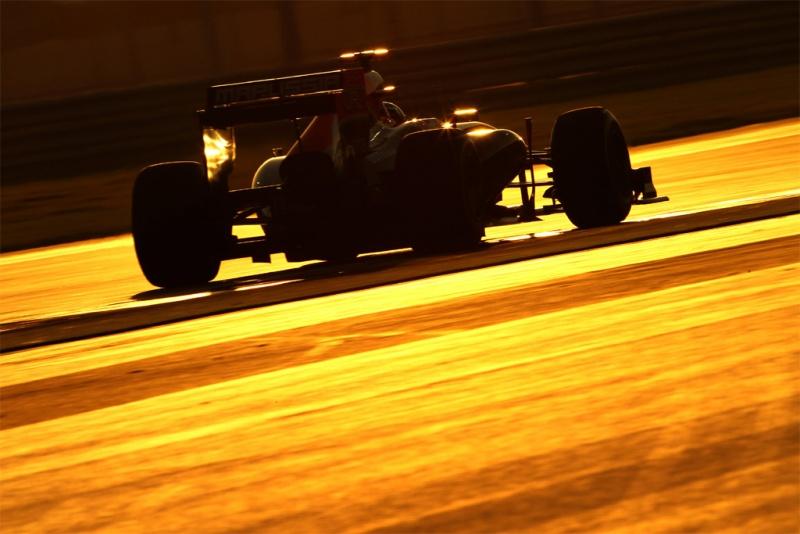 Marussia testando em Abu Dhabi