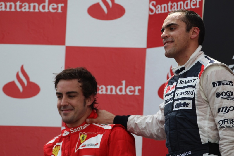 Maldonado e Alonso em Barcelona