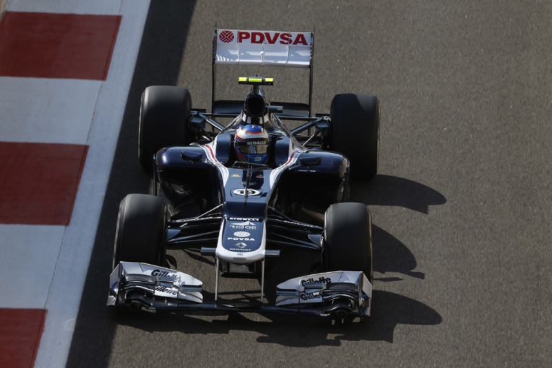 Bottas testando a Williams em 2012