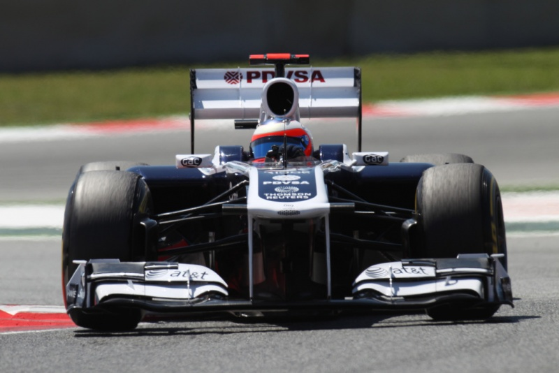 Barrichello na chicane de Barcelona