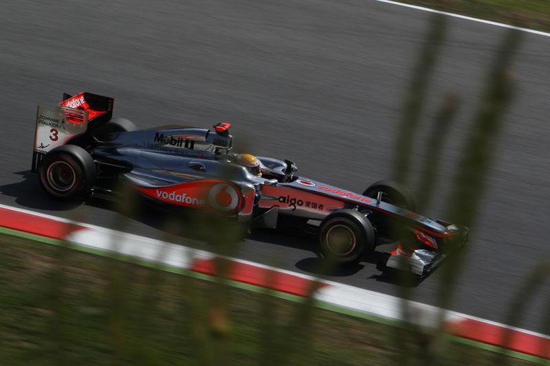 Hamilton ficou a 0s980 de Mark Webber