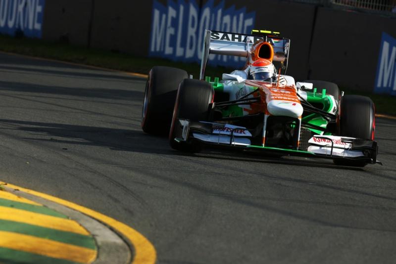 Force India de Sutil no top 10