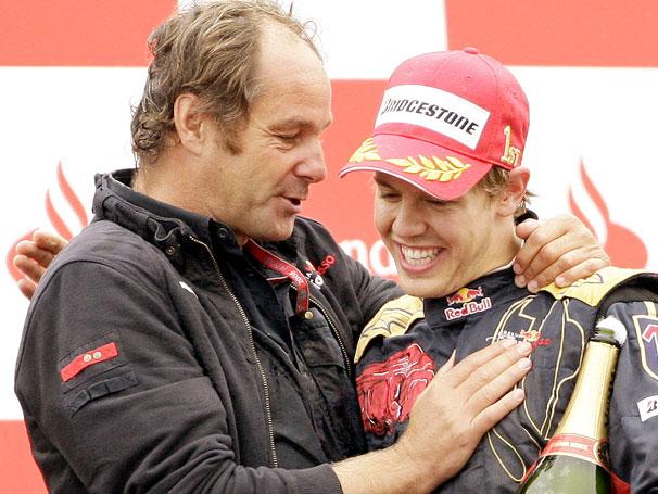 Vettel e Berger no pódio da Itália em 2008