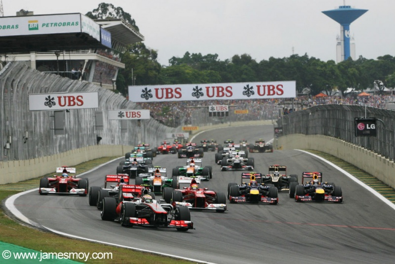 Largada para o GP do Brasil de 2012