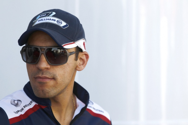 Maldonado no paddock