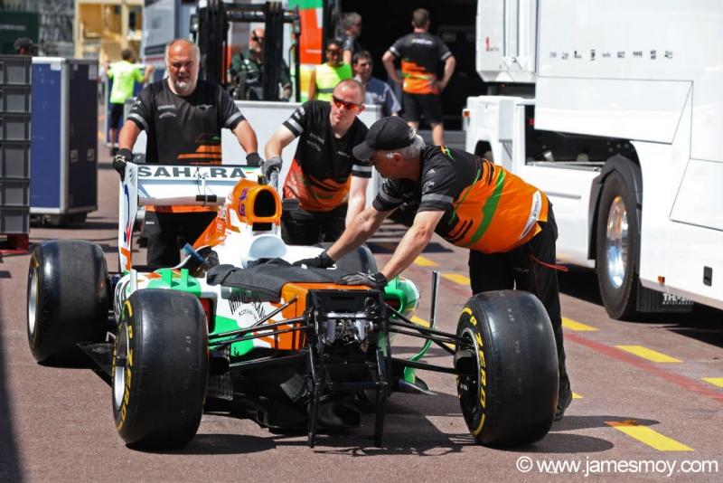Carro da Force India chega a Mônaco hoje