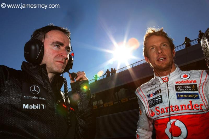 Paddy Lowe e Jenson Button