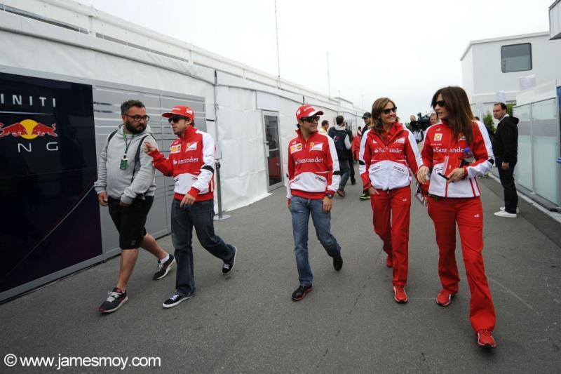 Felipe Massa e Fernando Alonso hoje em Montreal