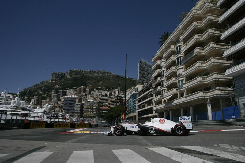 Perez havia passado para o Q3 em Mônaco
