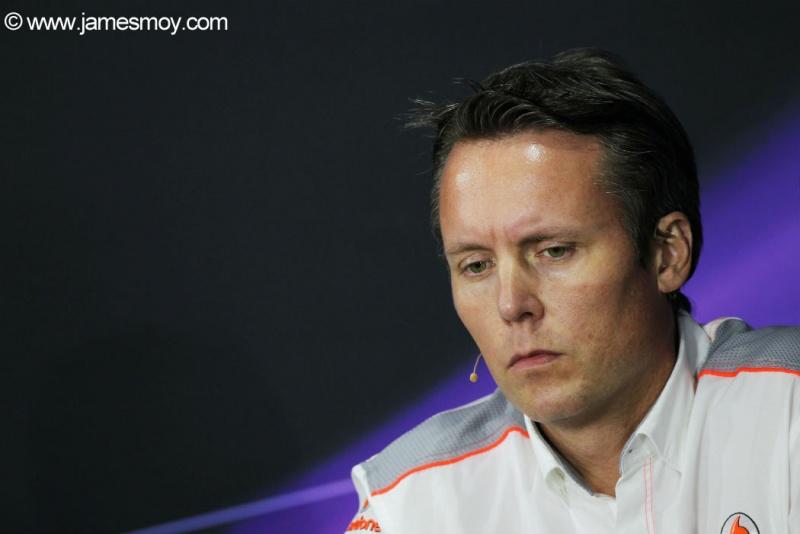Sam Michael na coletiva da FIA de hoje