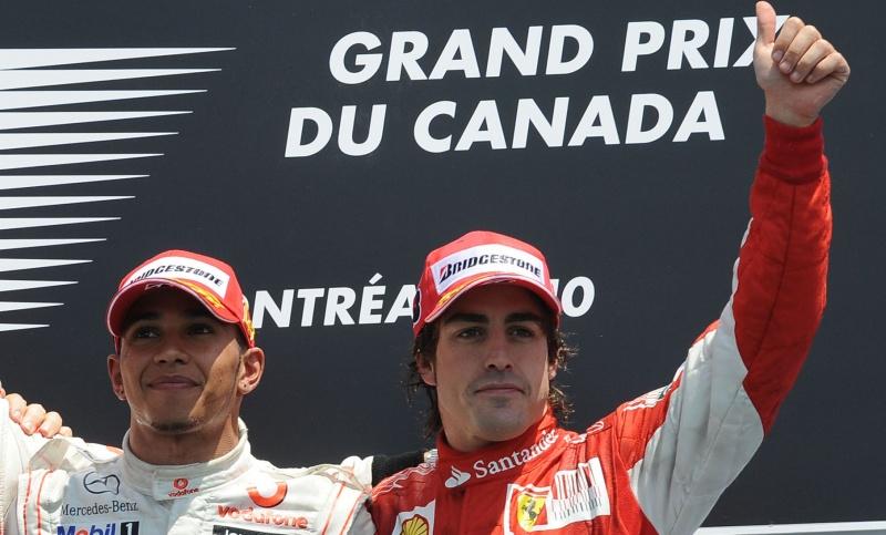 Hamilton e Alonso têm relação cordial hoje