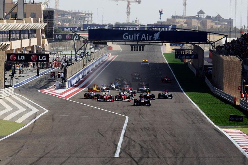 Largada da edição de 2010 do GP do Bahrein