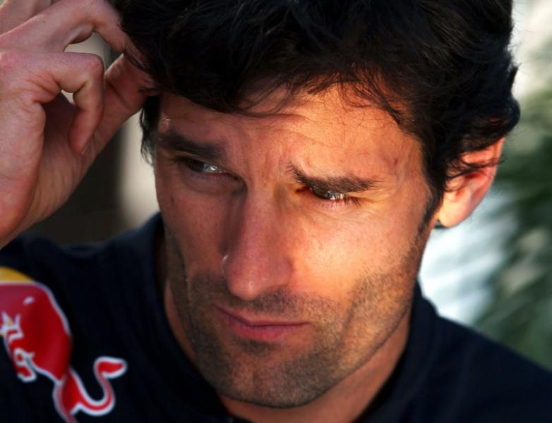 Webber larga mais uma vez atrás de companheiro de equipe, Sebastian Vettel