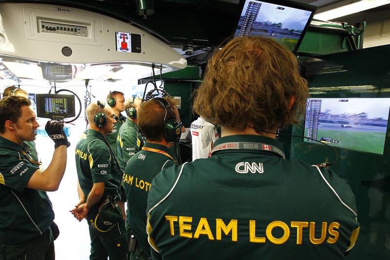 O Team Lotus busca chegar regularmente ao Q2