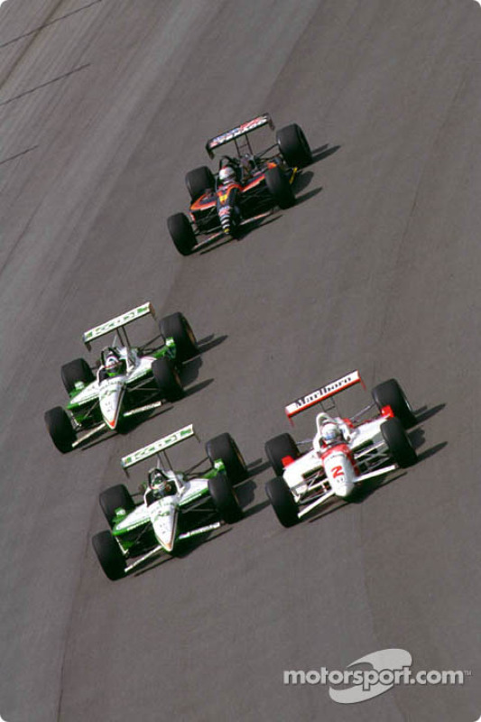 Tight racing in turn two