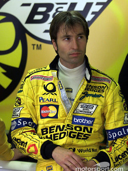 Heinz-Harald Frentzen in the stands