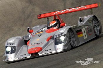 Emanuele Pirro in the Infineon Audi R8 #1