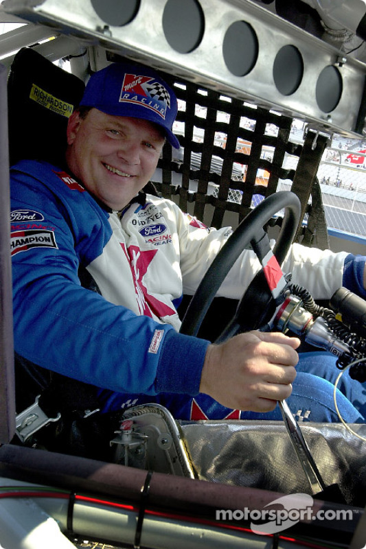 Jimmy Spencer qualified 5th for Saturdays race under the lights at Richmond