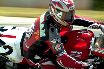 Pegram close up, Superbike