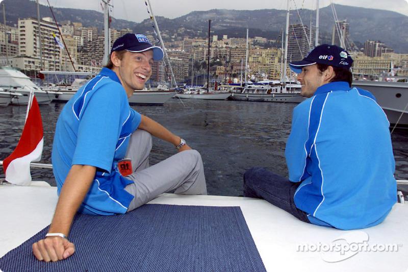 Jenson Button and Giancarlo Fisichella enjoying the sweet Monaco life