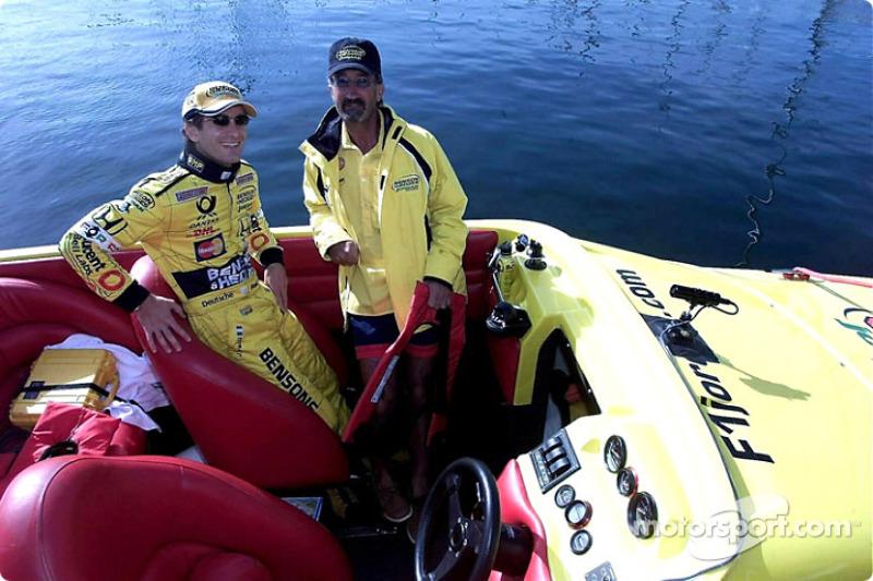 Fun in the sun with Jarno Trulli and Eddie Jordan