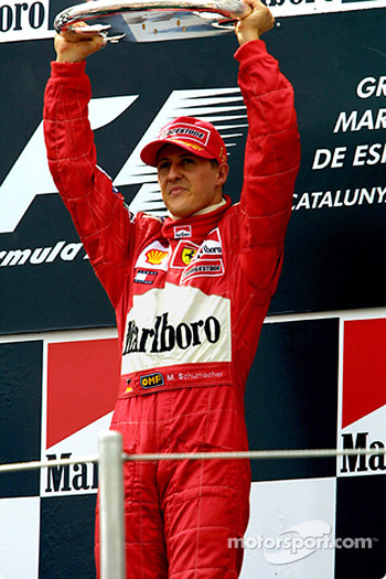 Michael Schumacher on the podium
