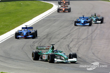 Eddie Irvine, Jean Alesi and the rest of the field