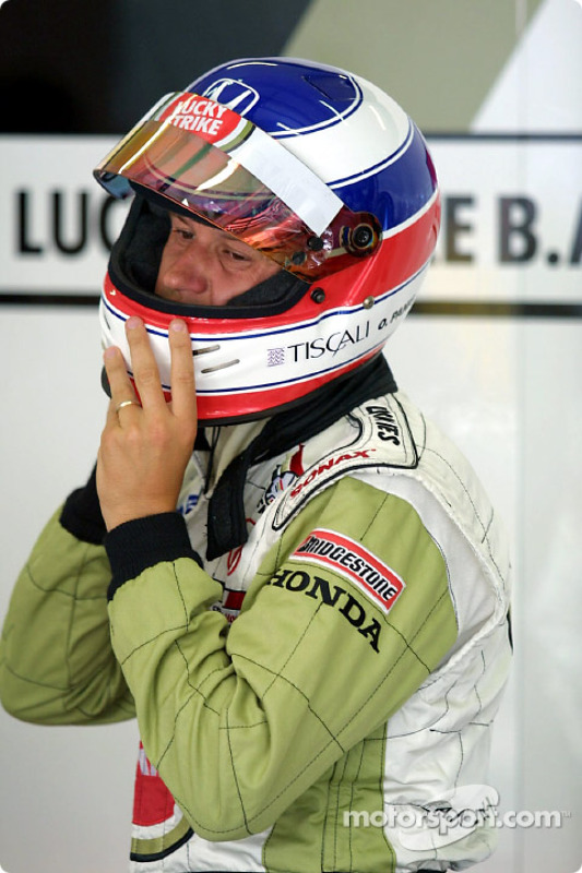 Olivier Panis before the race